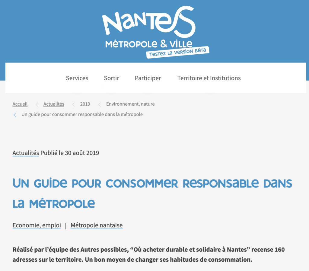 Article Nantes Métropole
