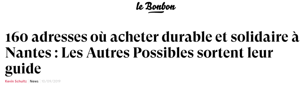 Article Le Bonbon