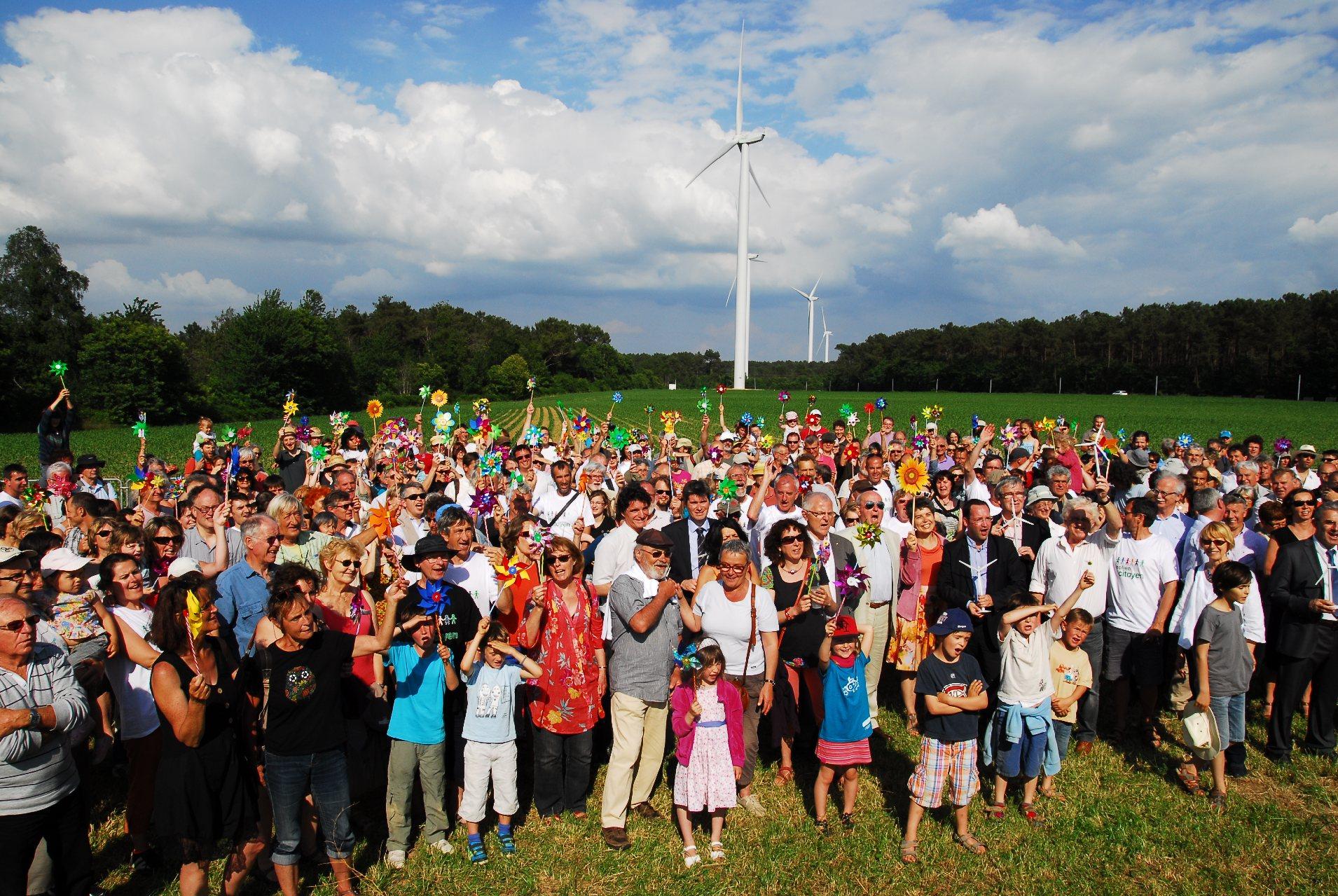Inauguration des eoliennes citoyennes de Beganne (56). (Énergie partagée)