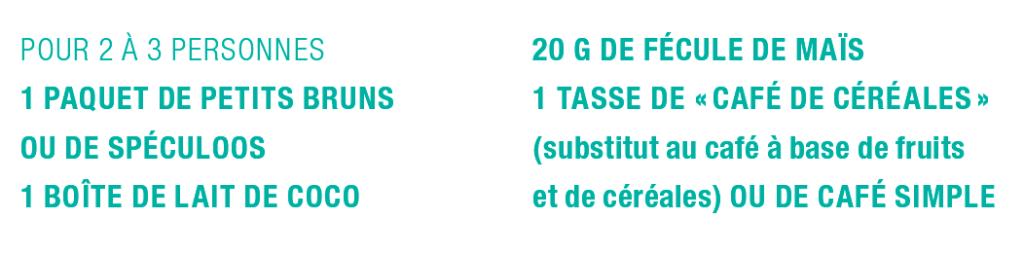Ingrédients du tiramisu végétal par Apala.