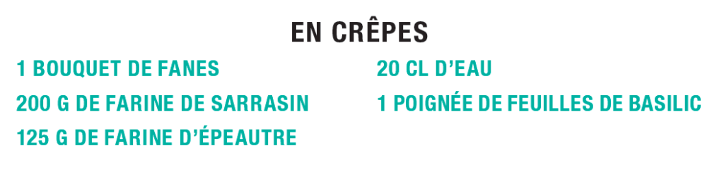 Ingrédients des crêpes de fanes, Idécologie