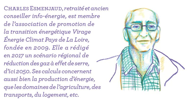 Portrait de Charles Esmenjaud, membre de l'association Virage Énergie Climat.